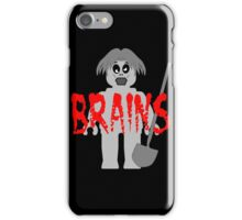 "Zombie Minifig ""BRAINS"", by Customize My Minifig iPhone Case/Skin"