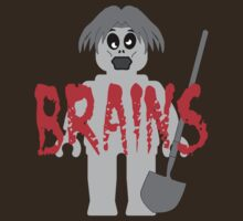 "Zombie Minifig ""BRAINS"", by Customize My Minifig by Customize My Minifig"