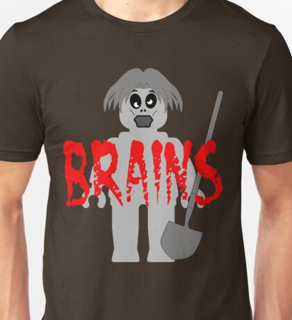 "Zombie Minifig ""BRAINS"", by Customize My Minifig Unisex T-Shirt"