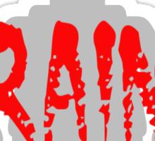 "Zombie Minifig ""BRAINS"", by Customize My Minifig Sticker"