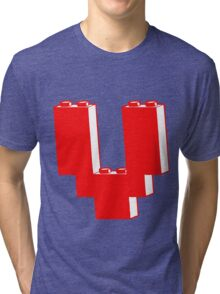 THE LETTER V, by Customize My Minifig Tri-blend T-Shirt