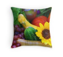 Garden Basket Throw Pillow