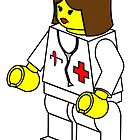 Female Doctor Minifig, by Customize My Minifig by ChilleeW