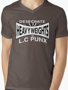 Desecrate - Heavy Wieghts Of L.C PUNX Mens V-Neck T-Shirt
