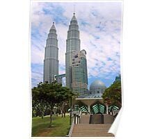 Mosquee & Twin Towers - Kuala Lumpur, Malaysia. Poster