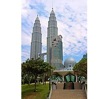 Mosquee & Twin Towers - Kuala Lumpur, Malaysia. Photographic Print