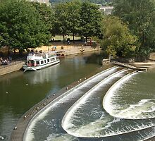 Weir at Bath by Ticklemepink