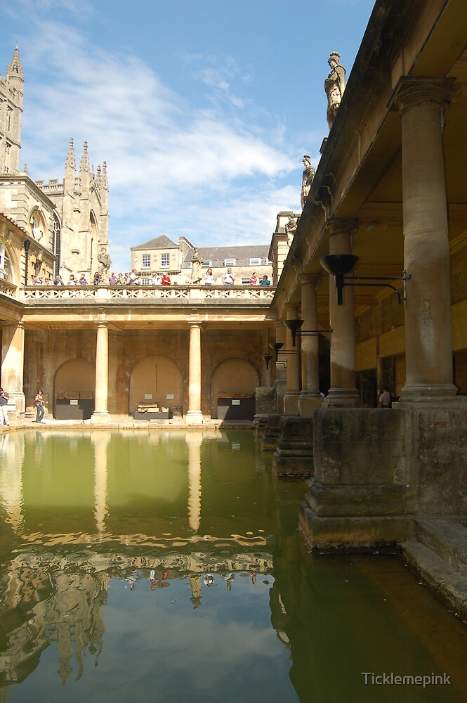 Reflections at Roman Baths in Bath by Ticklemepink