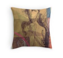 ginger tea in colours Throw Pillow