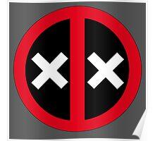 Dead Deadpool Icon  Poster