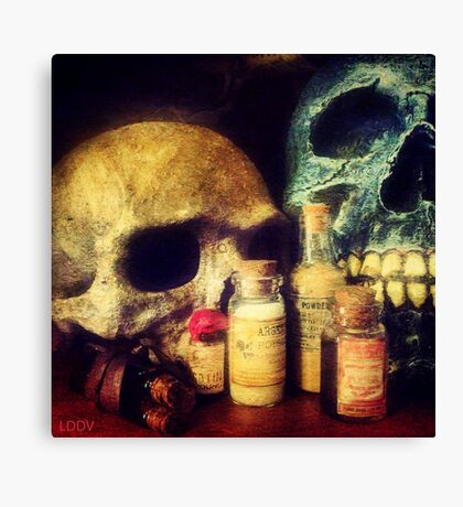 Skulls and Drugs Canvas Print