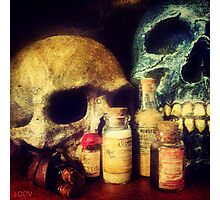 Skulls and Drugs Photographic Print