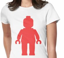 Minifig [Large Red] Womens Fitted T-Shirt