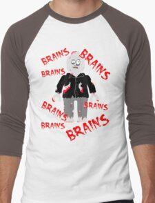 A LOT OF BRAINS - ZOMBIE MINIFIG Men's Baseball ¾ T-Shirt