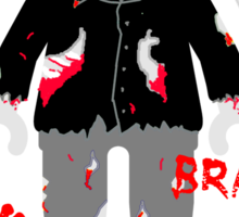 A LOT OF BRAINS - ZOMBIE MINIFIG Sticker