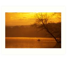 Fishing from a Kayak Art Print