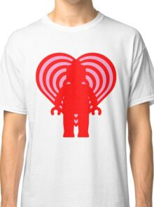 RETRO MINIFIG IN FRONT OF HEART Classic T-Shirt