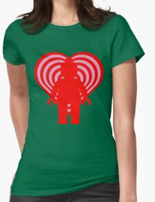 RETRO MINIFIG IN FRONT OF HEART Womens T-Shirt