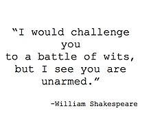 William Shakespeare Quote Photographic Print