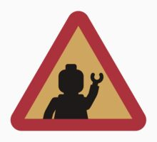 Minifig Triangle Road Traffic Sign Kids Clothes