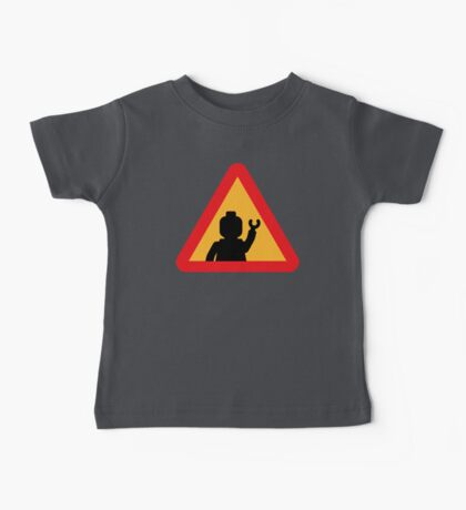 Minifig Triangle Road Traffic Sign Baby Tee