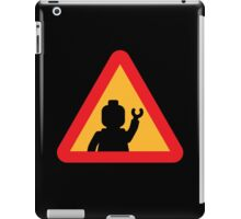 Minifig Triangle Road Traffic Sign iPad Case/Skin