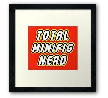 TOTAL MINIFIG NERD Framed Print