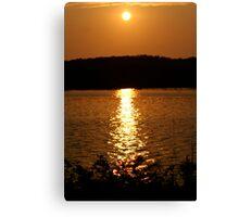 Long Lake Sunset 1 Canvas Print