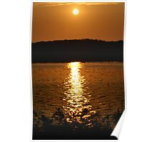 Long Lake Sunset 1 Poster