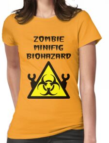 ZOMBIE MINIFIG BIOHAZARD Womens Fitted T-Shirt