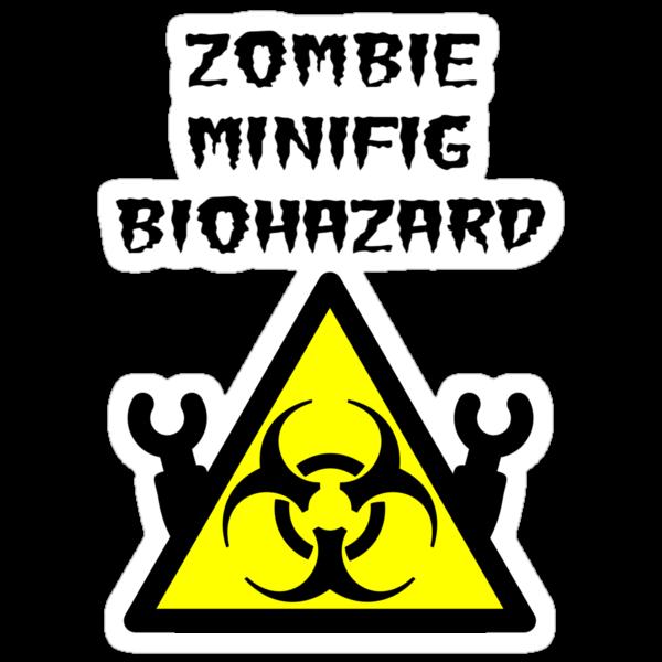ZOMBIE MINIFIG BIOHAZARD by Customize My Minifig