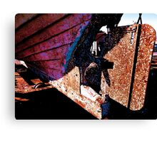 Old rust boat restoration Canvas Print