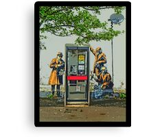 GCHQ listening post by Banksy Canvas Print