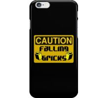 Caution Falling Bricks iPhone Case/Skin