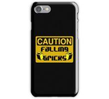Caution Falling Bricks iPhone Case/Skin