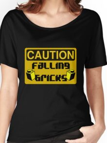 Caution Falling Bricks Women's Relaxed Fit T-Shirt