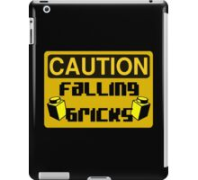 Caution Falling Bricks iPad Case/Skin