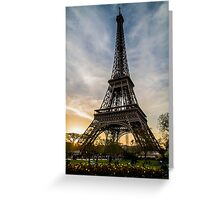 Eiffel Tower Sunset  Greeting Card