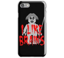 "Zombie Minifig ""I LIKE BRAINS"", by Customize My Minifig iPhone Case/Skin"