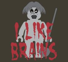"Zombie Minifig ""I LIKE BRAINS"", by Customize My Minifig by Customize My Minifig"