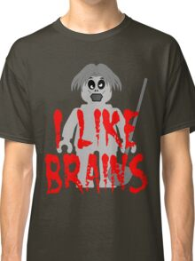 "Zombie Minifig ""I LIKE BRAINS"", by Customize My Minifig Classic T-Shirt"