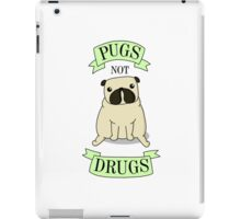 PUGS NOT DRUGS (green) iPad Case/Skin