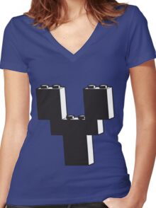 THE LETTER Y Women's Fitted V-Neck T-Shirt