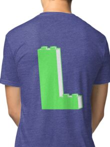THE LETTER L  Customize My Minifig Tri-blend T-Shirt