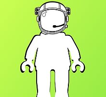 Banksy Style Astronaut Minifig  Customize My Minifig by ChilleeW