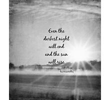 Les Miserables Sun Rise Photographic Print