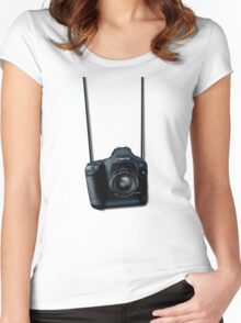 Camera shirt - for Canon users Women's Fitted Scoop T-Shirt