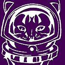 PURPLE SPACE CAT SMARTPHONE CASE(Graffiti) by leethompson