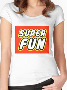 SUPER FUN Women's Fitted Scoop T-Shirt