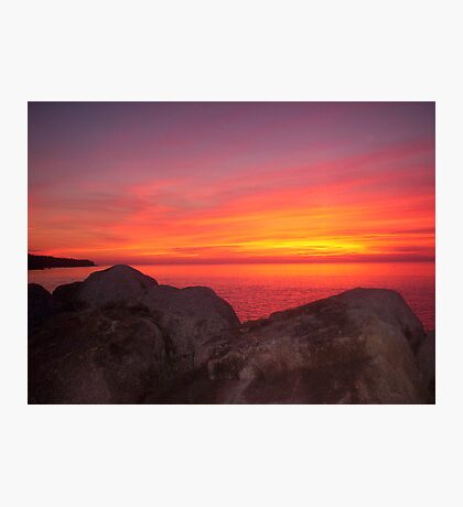 Sunset at Halls Harbour Photographic Print